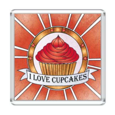 Магнит I love cupcakes