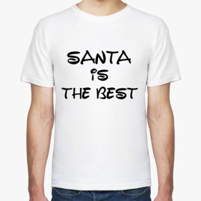 Футболка Надпись Santa is the best