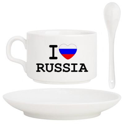 Кофейный набор I Love Russia