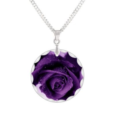 Кулон Лиловая роза
