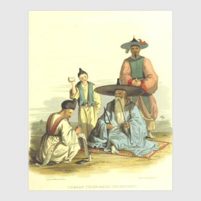 Постер Богач и писец - Корея 19 века