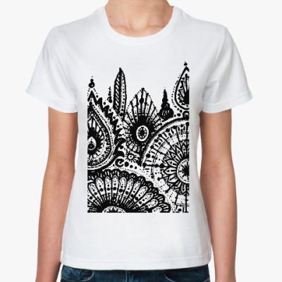 Классическая футболка Зимний лес