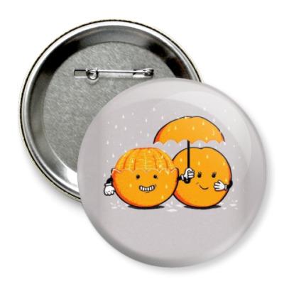 Значок 75мм Апельсины