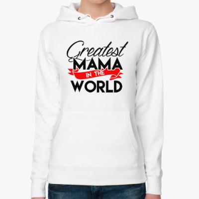 Женская толстовка худи Лучшая мама в мире