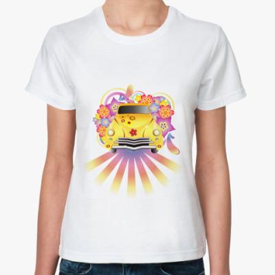 Классическая футболка  Машина хиппи