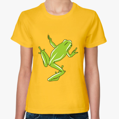 Женская футболка Лягушка