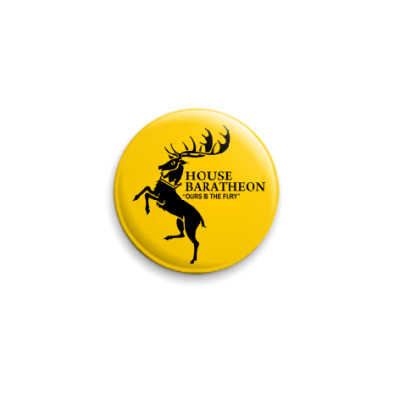 Значок 25мм House Baratheon