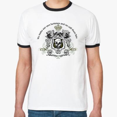 Футболка Ringer-T skull fortune