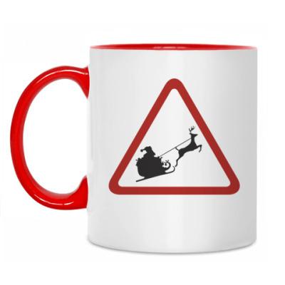 Кружка Осторожно, Санта!