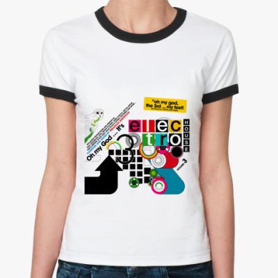 Женская футболка Ringer-T Electro House