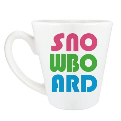 Чашка Латте snowboard