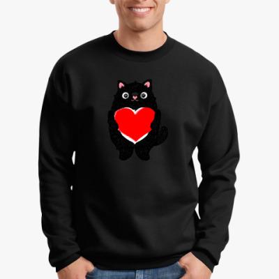 Свитшот Кот и большое сердце