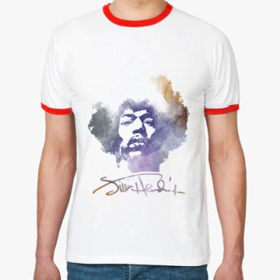 Футболка Ringer-T  Jimi Hendrix - Джими Хендрикс