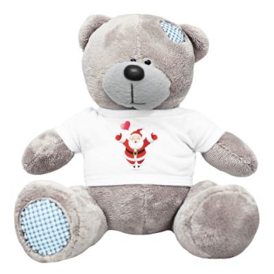 Плюшевый мишка Тедди Дедушка Мороз