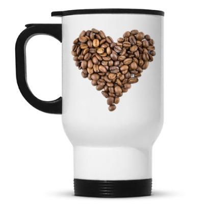 Кружка-термос Кофейное сердце