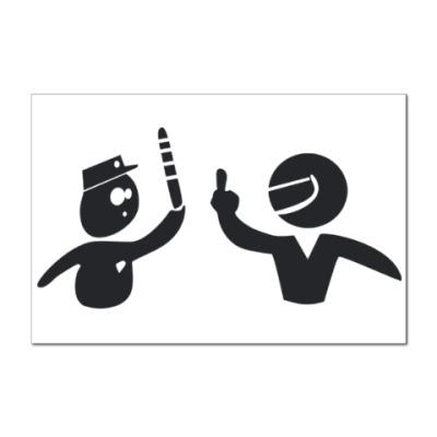 Наклейка (стикер) Гибдд и водитель