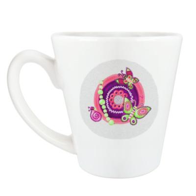 Чашка Латте бабочки - черепушки