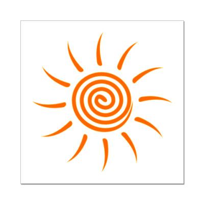 Наклейка (стикер) Солнышко
