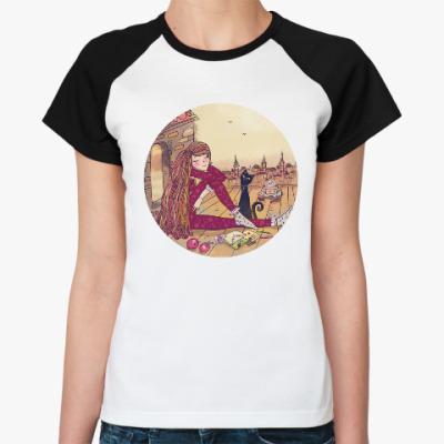 Женская футболка реглан вечерние мечты