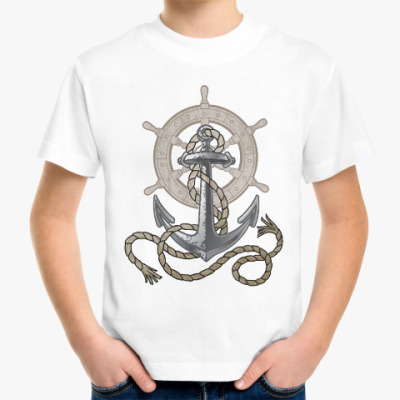 Детская футболка Якорь и штурвал