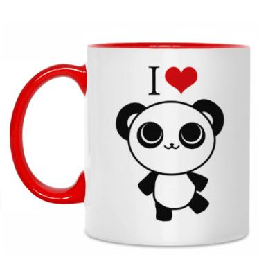 Кружка Я люблю панд
