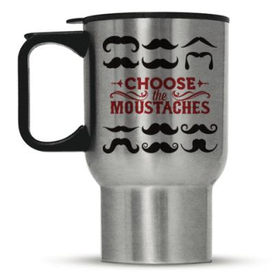 Кружка-термос Усы. Борода. Mustache. Beard.