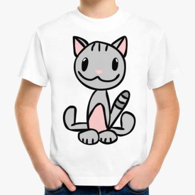 Детская футболка Смешная киса