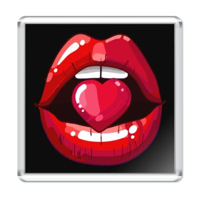 Магнит Губы и Сердце (Lips & Heart)
