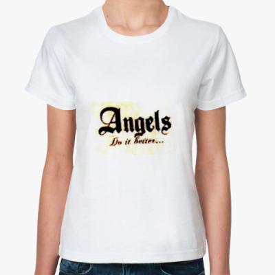 Классическая футболка  ангелы