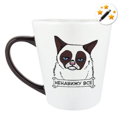Кружка-хамелеон Grumpy cat