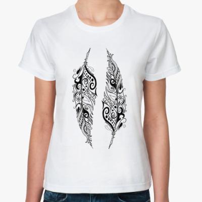 Классическая футболка Перья