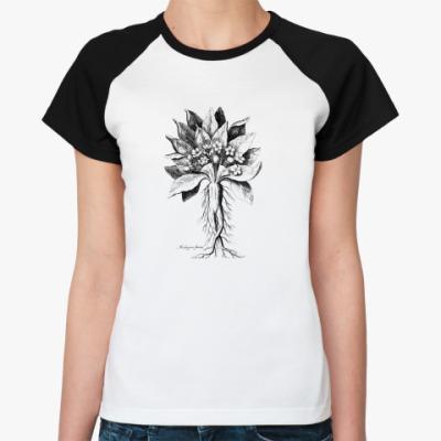 Женская футболка реглан 'Мандрагора'
