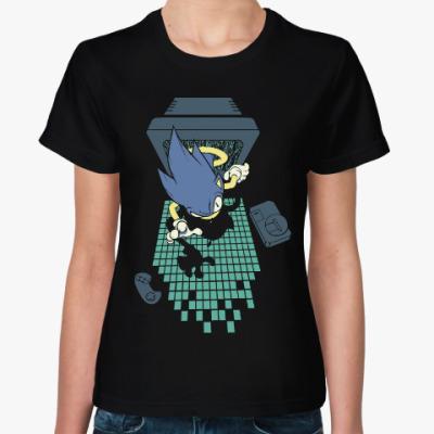 Женская футболка Соник