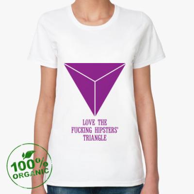 Женская футболка из органик-хлопка 'Triangle'