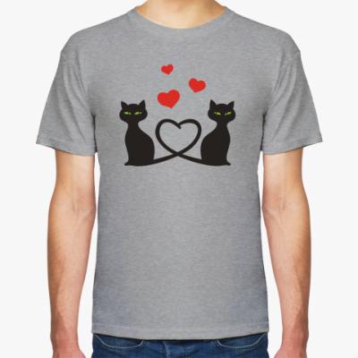 Футболка Влюбленные кошки