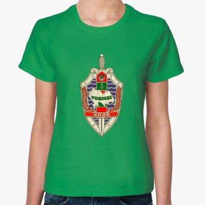 Женская футболка Женщина границы Вормси