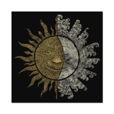 Наклейка (стикер) Солнце и Луна
