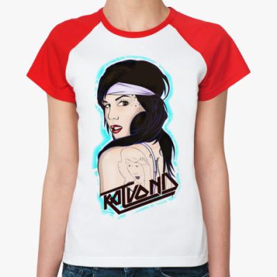 Женская футболка реглан Кэт