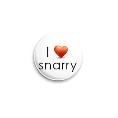 Значок 25мм  'Люблю Снарри'