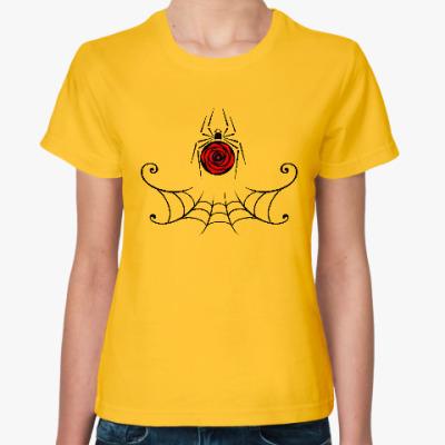 Женская футболка Паук. Halloween