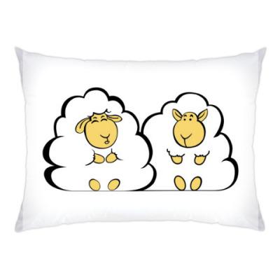 Подушка Влюбленные овечки