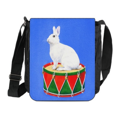 Сумка на плечо (мини-планшет) Заяц на барабане