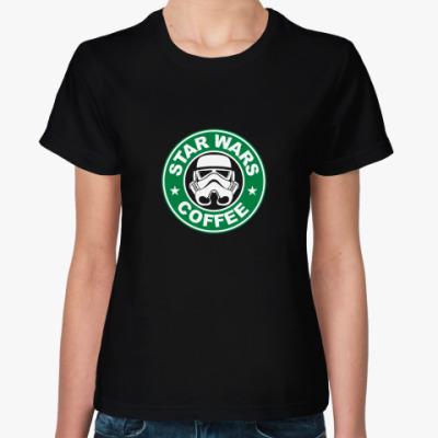Женская футболка starwarscoffee