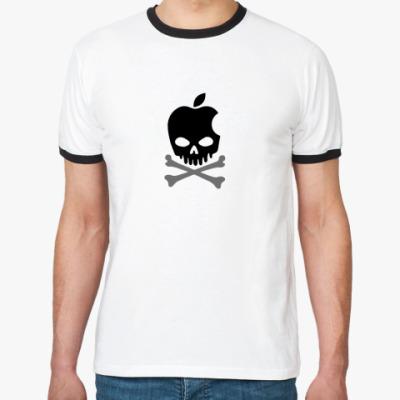 Футболка Ringer-T Apple Skull