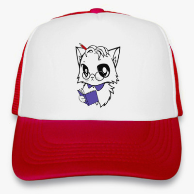 Кепка-тракер Белый кот ботаник