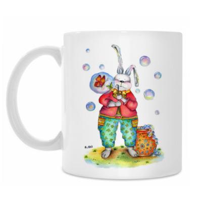 Кружка Кролик надувает мыльные пузыри