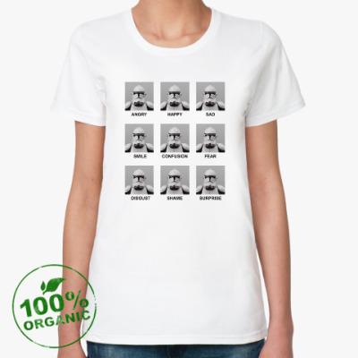 Женская футболка из органик-хлопка Эмоции клонов
