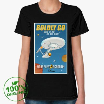 Женская футболка из органик-хлопка Star Trek Boldly Go