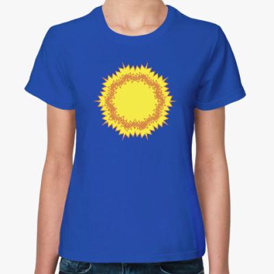 Женская футболка зигзагообразное солнце