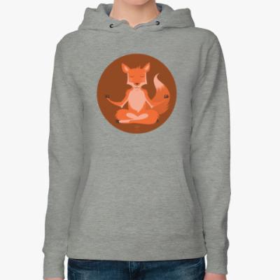 Женская толстовка худи Animal Zen: F is for Fox